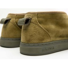 YASURAGI SUEDE - GREEN CLAY